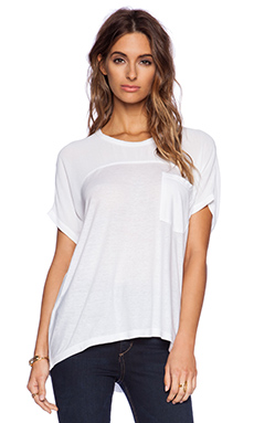 Wilt Slouchy & Sheer Raw Mix Tee in White