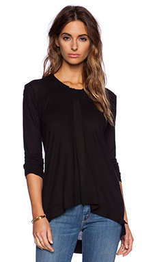 Wilt Slouchy Sheer Inset Boyfriend in Black