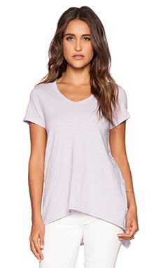 Wilt Slub Jersey Short Sleeve Shrunken Boyfriend Tee in Distressed Lavender