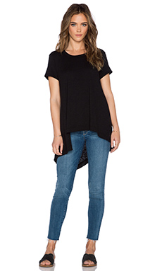 Wilt Twisted Uneven Mixed Tee in Black