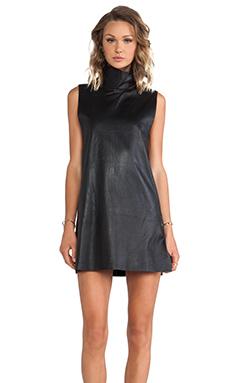 WINSTON WOLFE Turtle Neck Dress in Black
