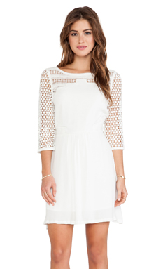 Wish Polish Dress in Off White