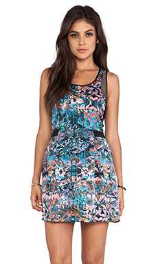 Wish Tank Mini Dress in Botanical