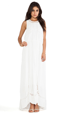 Wish Diamond Maxi Dress in White