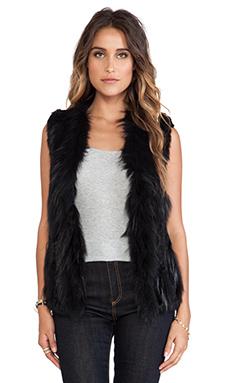 Wish Atlanta Fur Vest in Black