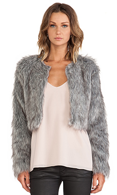 Wish Faux Fur Shift Jacket in Shade