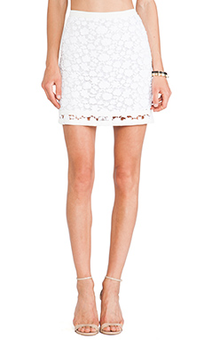 Wish Eternal Lace Skirt in White