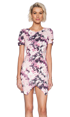 Wilde Heart Bud Out Slit Dress in Floral