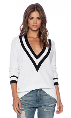 Wilde Heart Varsity Sweater in White