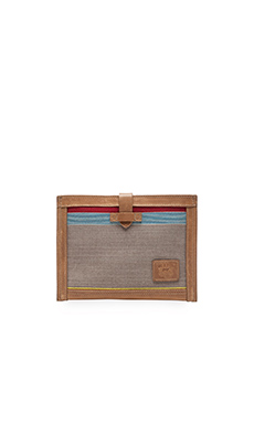WILL Leather Goods Weaver's House Collection iPad Sleeve in Brown