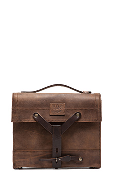 SAC MESSAGER FOUND SURPLUS LEATHER SWISS MEDIC