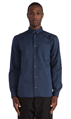 Won Hundred Lester Button Down in Dark Denim