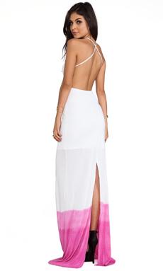 WOODLEIGH Sydney Dip Dye Maxi Dress in Fuchsia