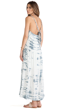 WOODLEIGH Goddess Tie Dye Dress in Charcoal