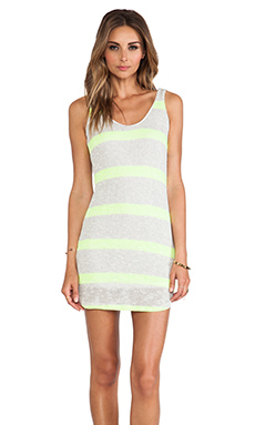 WOODLEIGH Newport Shift Mini Dress in Neon Yellow