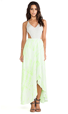 WOODLEIGH Shannon Maxi Dress in Neon Yellow
