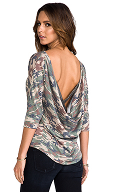 WOODLEIGH Charlene Top in Camo Print