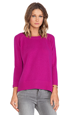 White + Warren Sweatshirt in Autumn Magenta