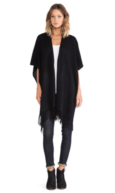White + Warren Two Way Fringe Popover/Scarf