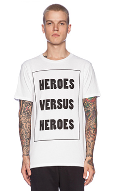 Wood Wood Hero vs Hero Tee in White