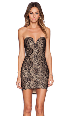WYLDR Get Bodied Dress in Black Lace