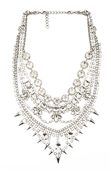 XEVANA Dialouvtra Necklace in Crystal & Silver