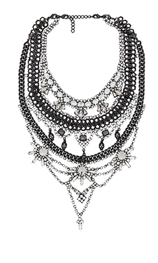 XEVANA x REVOLVE 1 Necklace in Crystal & Gunmetal