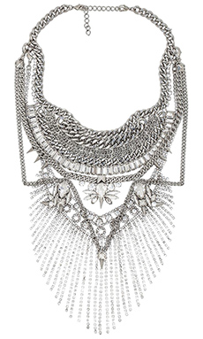 XEVANA x REVOLVE 2 Necklace in Crystal & Silver