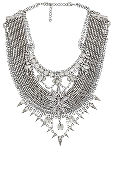 XEVANA x REVOLVE 3 Necklace in Crystal & Silver