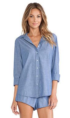 XiRENA Bella Button Up Chambray in Blue