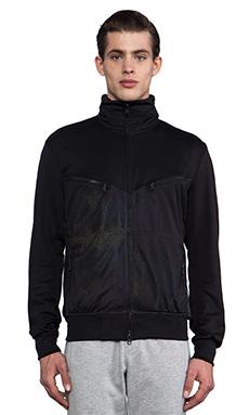 Y-3 Yohji Yamamoto Chevron Jacket in Black & Outlook