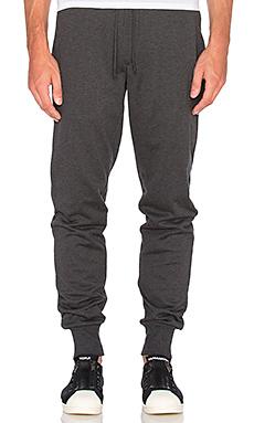 Y-3 Yohji Yamamoto Classic Cuff Pant in Charcoal Melange