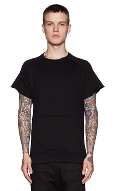 Youth Machine Standard Cut Off Sweatshirt in Black