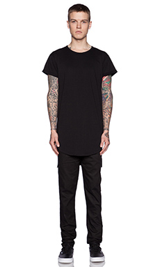 Youth Machine Standard Long Tee in Black