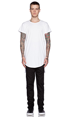 Youth Machine Standard Long Tee in White