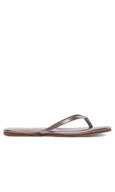 Yosi Samra Rose Metallic Sandal in Pewter