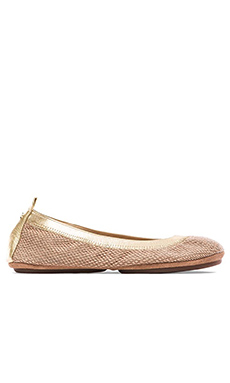 Yosi Samra Samara Woven Canvas Flat in Natural