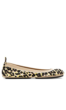 Yosi Samra Samara Multicolor Calf Hair Flats in Biscotti