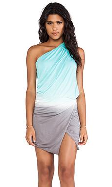 Young, Fabulous & Broke Sway Dress in Aqua & Grey Ombre