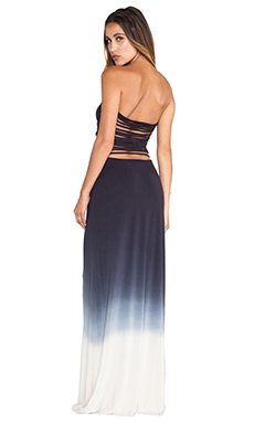 Young, Fabulous & Broke Tara Maxi Ombre Dress in Black