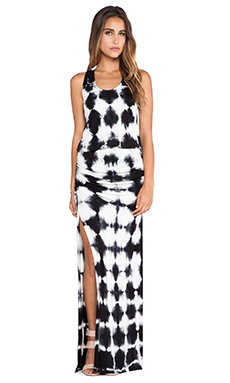 Young, Fabulous & Broke Mel Maxi Crosshatch Dress in Black