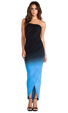 Young, Fabulous & Broke Hamlin Maxi in Black & Blue Ombre