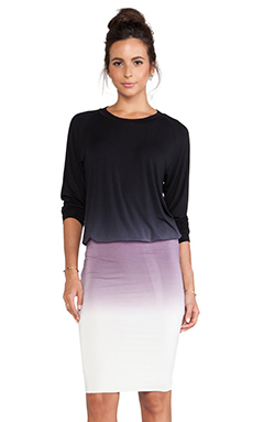 Young, Fabulous & Broke Margot Dress in Black & Purple Ombre