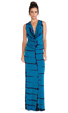 Young, Fabulous & Broke Lisle Maxi Dress in Teal Tiger Wash