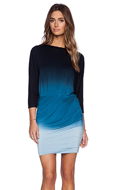 Young, Fabulous & Broke Clancy Dress in Black & Teal Ombre