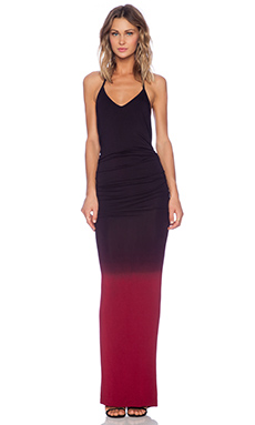 Young, Fabulous & Broke Super Maxi Dress in Black & Red Ombre