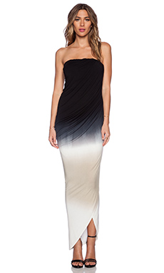 Young, Fabulous & Broke Hamlin Maxi Dress in Black & Tan Ombre