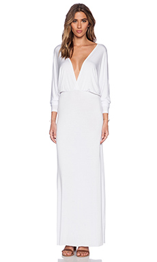 Young, Fabulous & Broke Eaton Maxi Dress in Solid White