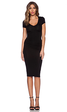 Young, Fabulous & Broke Araya Dress in Solid Black