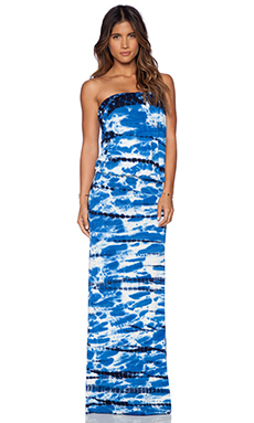 Young, Fabulous & Broke Sydney Maxi Dress in Navy & Blue Shorebreak
